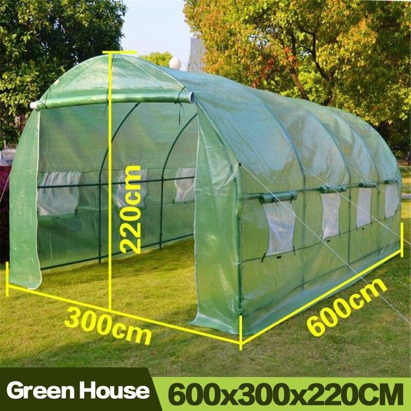 الدفيئة AULAYSED لحديقة في الهواء الطلق البيوت الخضراء زهرة النبات الدفء غطاء بي لفة/ بكرة بلاستيكية المتابعة سستة دائم تسليط الحديد