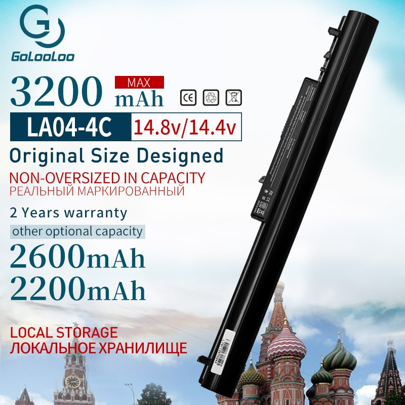 Golooloo 14,4 v 2200mah batería para HP LA04 HSTNN-UB5N HSTNN-UB5M HSTNN-Y5BV TPN-Q129 TPN-Q131 TPN-Q130