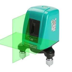 Laser Level Vertical and Horizontal Two-line Cross Light Unbalance Warning Buzzer 360 Degree Free Rotation 635nm Laser Level