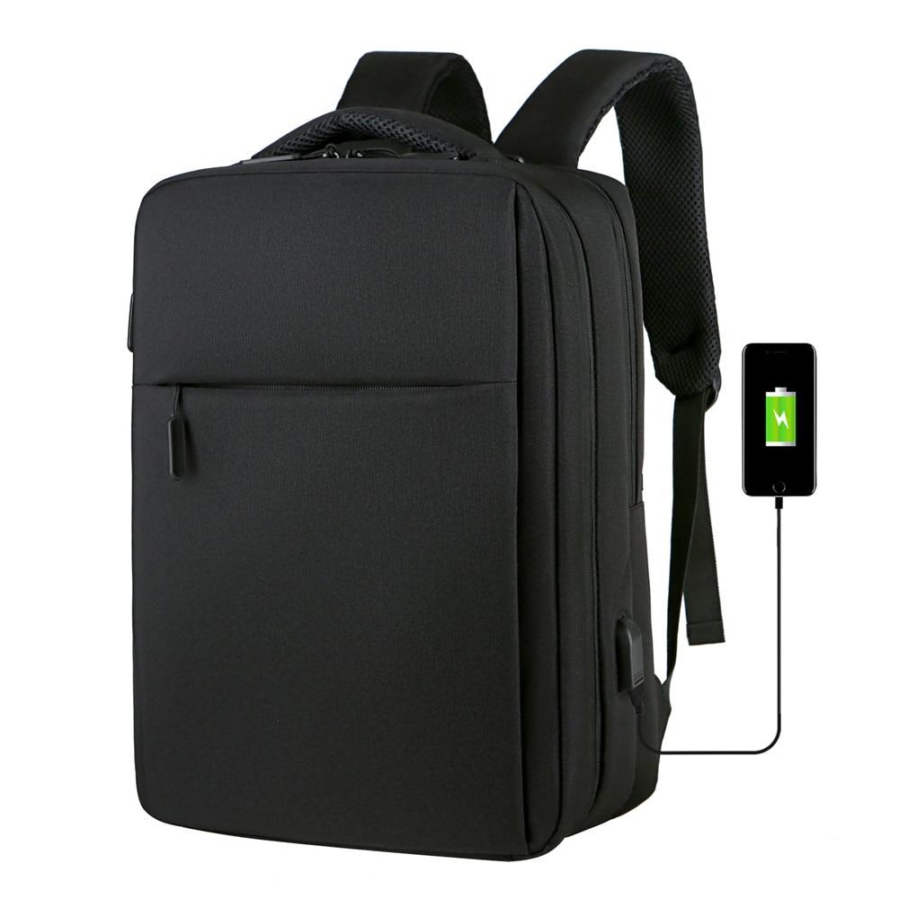 15.6 Inch Anti Theft Backpack Men USB Charging Laptop Backpack School Bag Waterproof Travel Bag School Backpacks for Teens 17 inch laptop backpack casual shoulders bag for teenage men backpack school bags waterproof backpack travel suitcase 17 3 inch