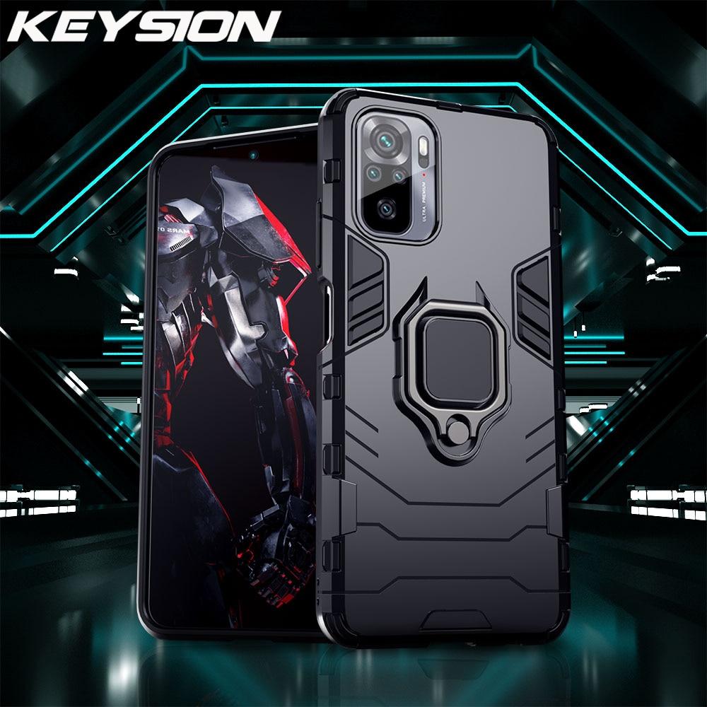 KEYSION Shockproof Case for Redmi Note 10 10 Pro Max 9s 8 8A 7 7A 8T K20 K40 Back Phone Cover for Xiaomi Mi 9T A2 A3 9SE Mi 11
