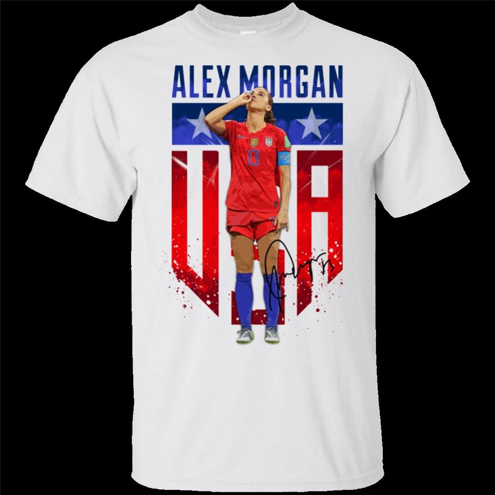 Alex Morgan, camiseta de fútbol para equipo de EE. UU., camiseta de fútbol para mujer, camiseta de manga corta S-3Xl, Camiseta con estampado de moda Casual