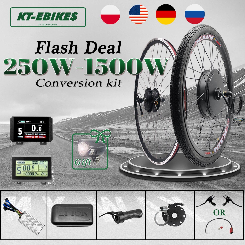 ebike Kit 36V 500W 48V 1500W 1000W 750W Front Rear e-bike e Bike Wheel Hub Motor Electric Bicycle Bike Conversion Kit