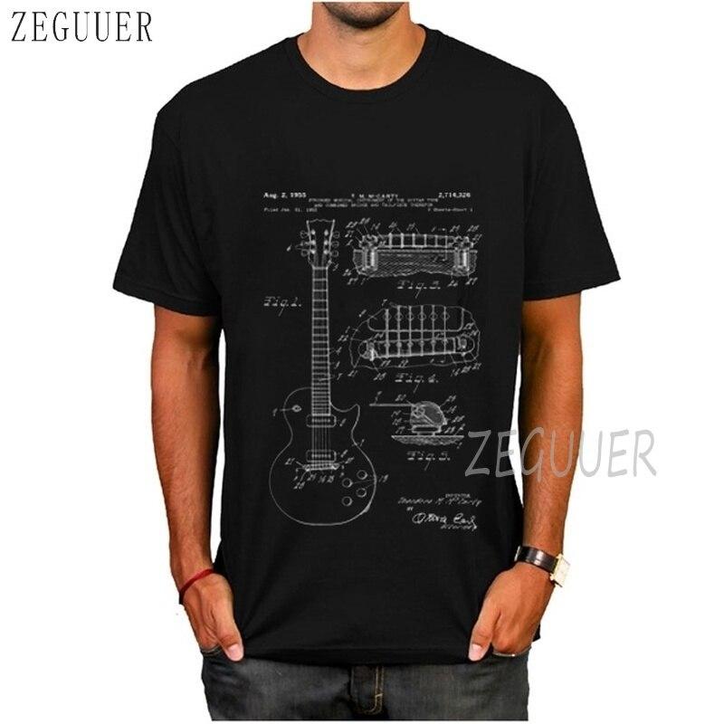 Gibson Les Paul Гитара лакированная белая 2020 забавная футболка уличная Летняя мужская футболка с коротким рукавом хлопковые топы футболки Harajuku панк