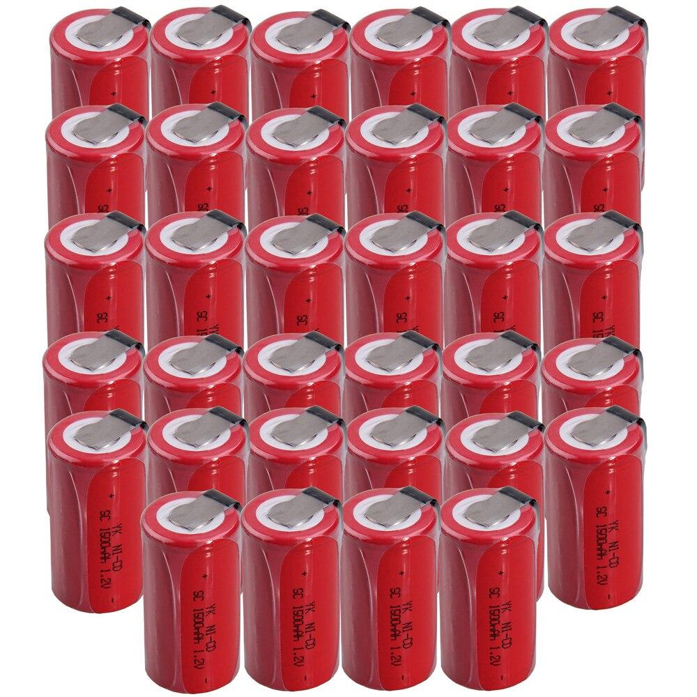 34 Uds SC 1500mah 1,2 v batería NICD baterías recargables para makita bosch B & D Hitachi Tabo dewalt para herramientas eléctricas