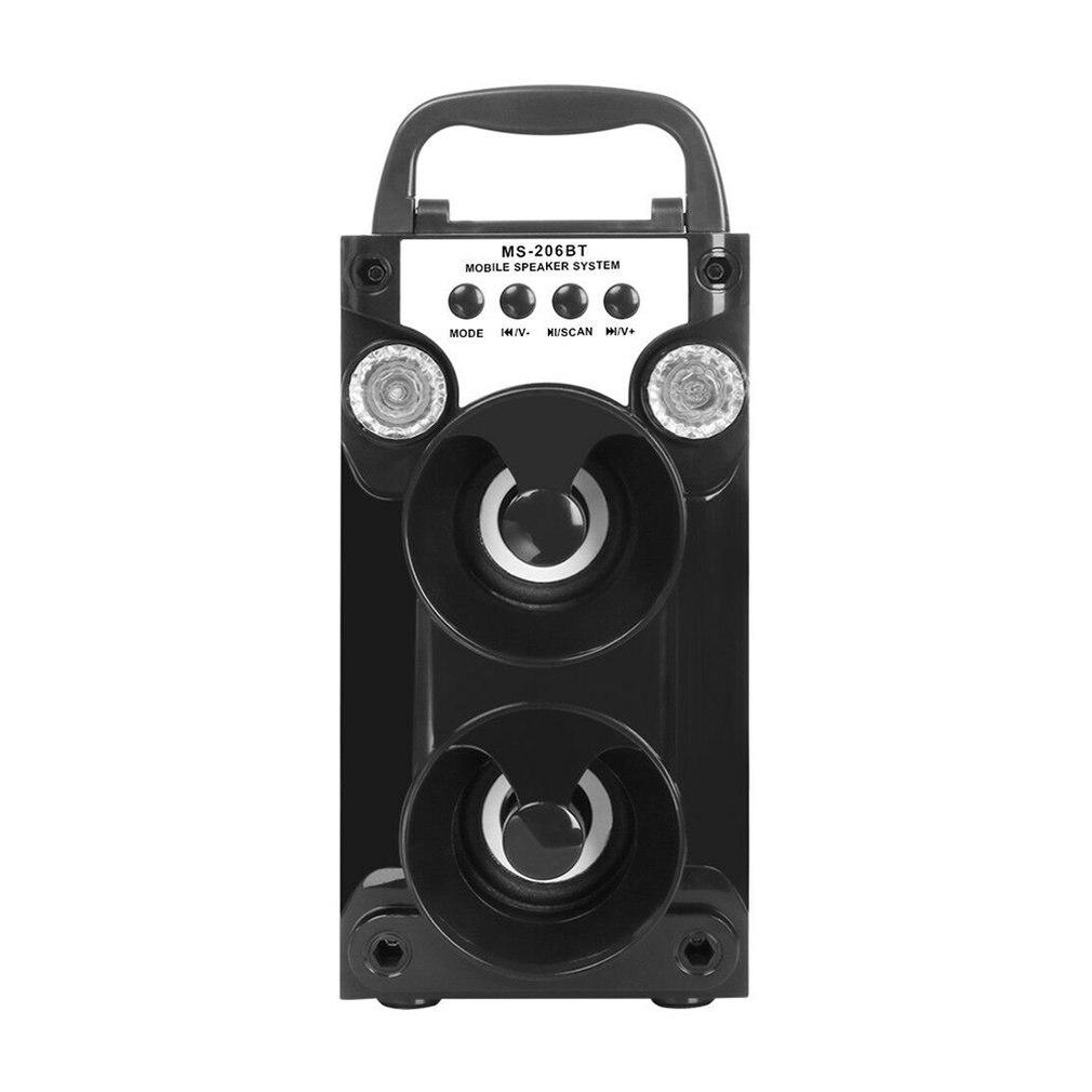 Altavoz inalámbrico TF tarjeta Radio altavoz al aire libre cuadrado baile Audio alta potencia larga espera Led luz Usb