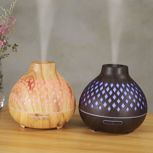 400Ml Air Humidifier Aroma Diffuser Aromatherapy Essential Oils Ultrasonic Humidifier Remote Control