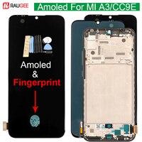 ЖК-дисплей Amoled для Xiaomi MI A3, сенсорный экран 10, дигитайзер, замена экрана для Xiaomi MIA3 MI CC9E, со сканером отпечатков пальцев