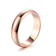 Simple unisexe réel 18K bague en or pour les femmes de mariage bagues de fiançailles hommes Couple anneau pour les amoureux cadeaux déclaration bijoux