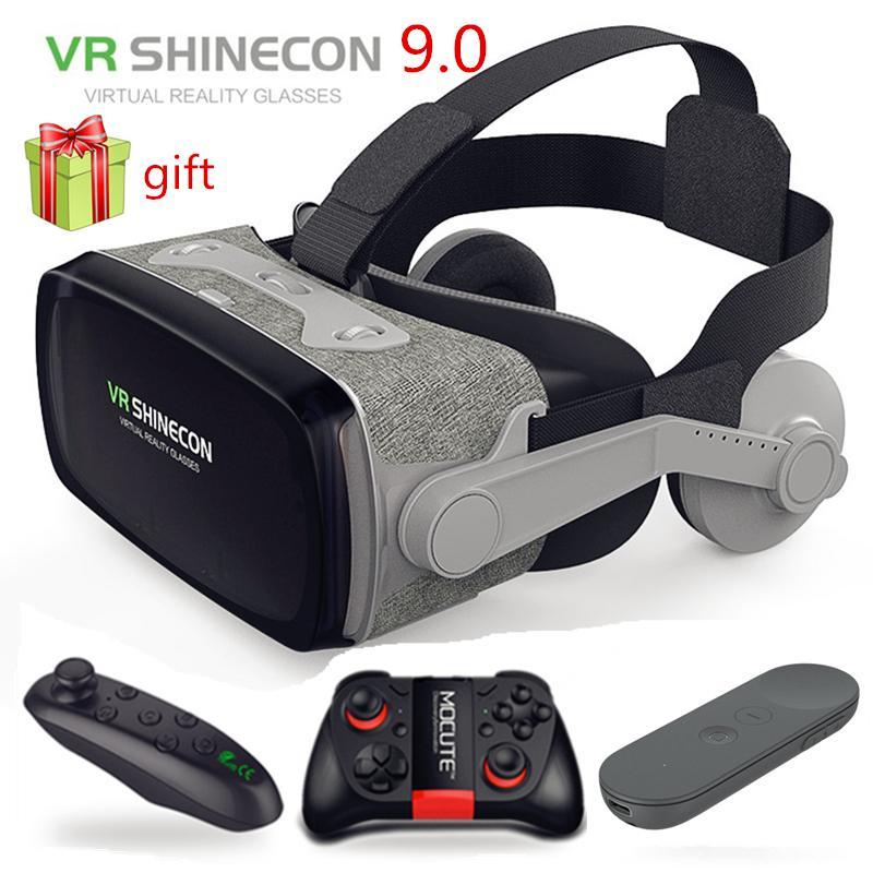 "Gafas de realidad Virtual VR shineon para videojuegos, gafas 3D de realidad Virtual, gafas VR de cartón Google para teléfonos inteligentes de 4,0-6,53"""