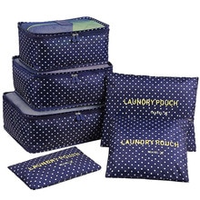 DLYLDQH sac de rangement de voyage 6 pièces   Ensemble de sacs de rangement de voyage pour vêtements, pochette de rangement valise de maison, diviseur de placard, conteneur organisateur