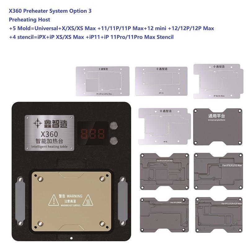 XINZHIZAO X360 система подогрева для iPhone X-12Pro Макс средний слой системы подогрева вариант 3