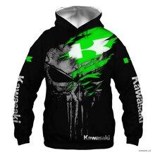 New Kawasaki Punisher Men's Hoodie High Quality Sportswear Cycling Wear Casual Jacket Harajuku Top O