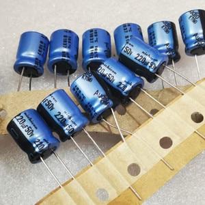 10pcs Genuine NICHICON KT 50V220UF 10X12.5MM Audio Electrolytic capacitor blue kt 220uF/50v hot sale 220UF 50V