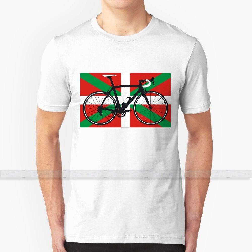 Bandera para bicicleta vasca (Big-Highlight) camiseta de verano para mujeres y hombres 100% camisetas de algodón parte de arriba nueva Popular camiseta 100 Top