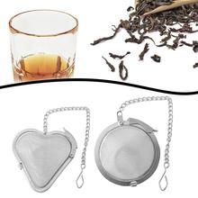 Reusable Stainless Steel Tea Strainer Mesh Infuser Tea Ball Filter w/Chain Strainer for Mug Teapot Teaware  Drinkware Kitchen
