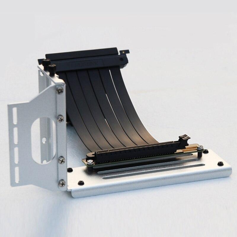 PCI- E 3.0 16X بطاقة جرافيكس عمودي مسنده/قاعدة ATX حالة مرنة موصل كابل الناهض بطاقة تمديد مهايئ منفذ لوحدة معالجة الرسومات