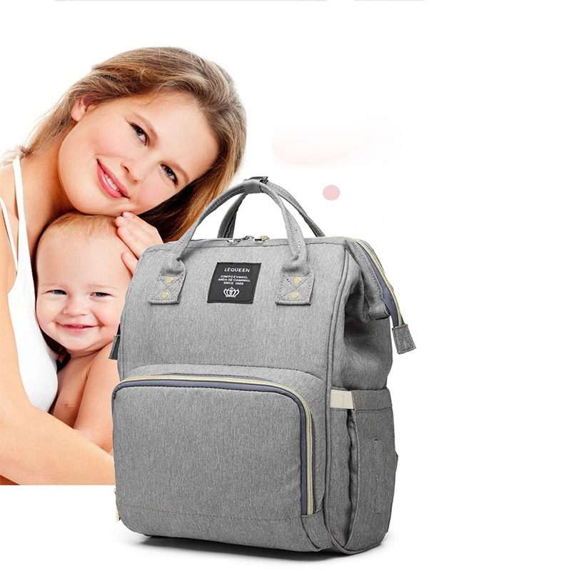 Fashion Maternity Bag Simple Solid Color Multifunctional Large Capacity Backpack New Upgraded Rechargeable Mother