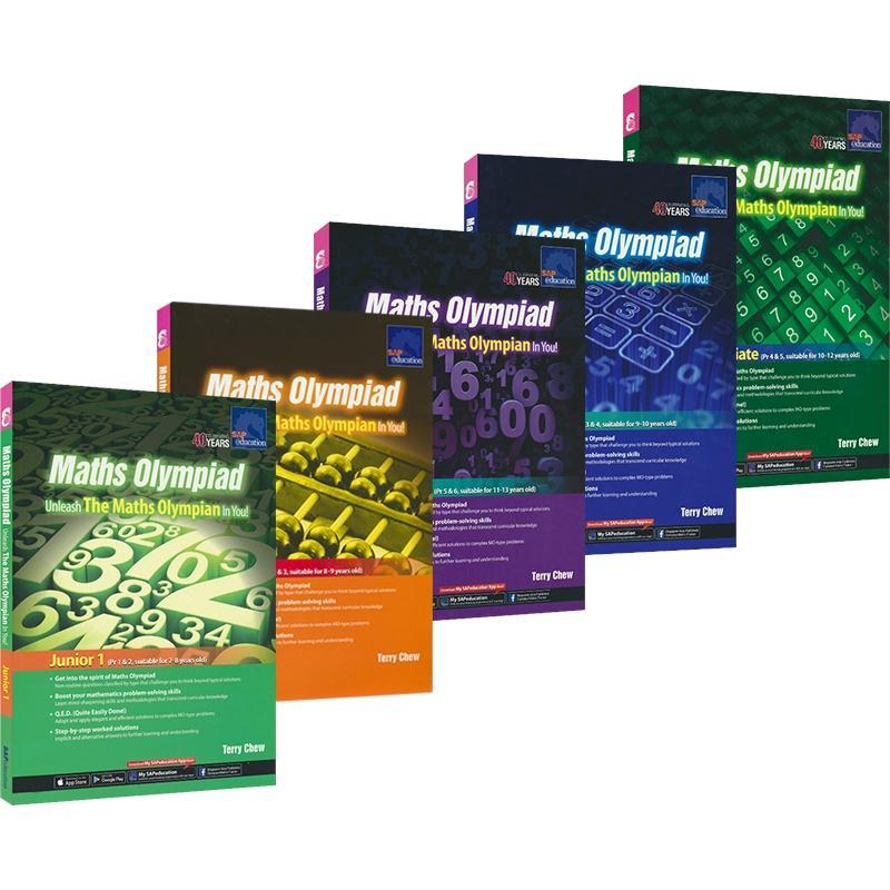 5 Books/Set SAP Maths Olympiad Math Workbooks English Math Problems Teaching Books