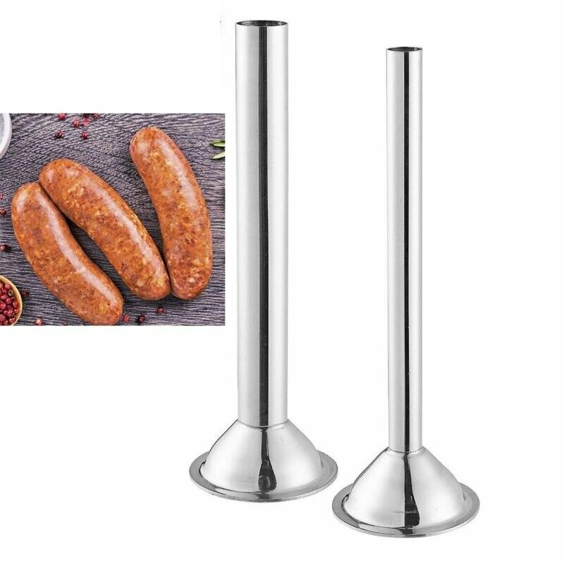 Aço inoxidável salsicha funil moedor de carne enema ferramenta salsicha stuffer tubo chifre funil tubo enchimento enema bicos