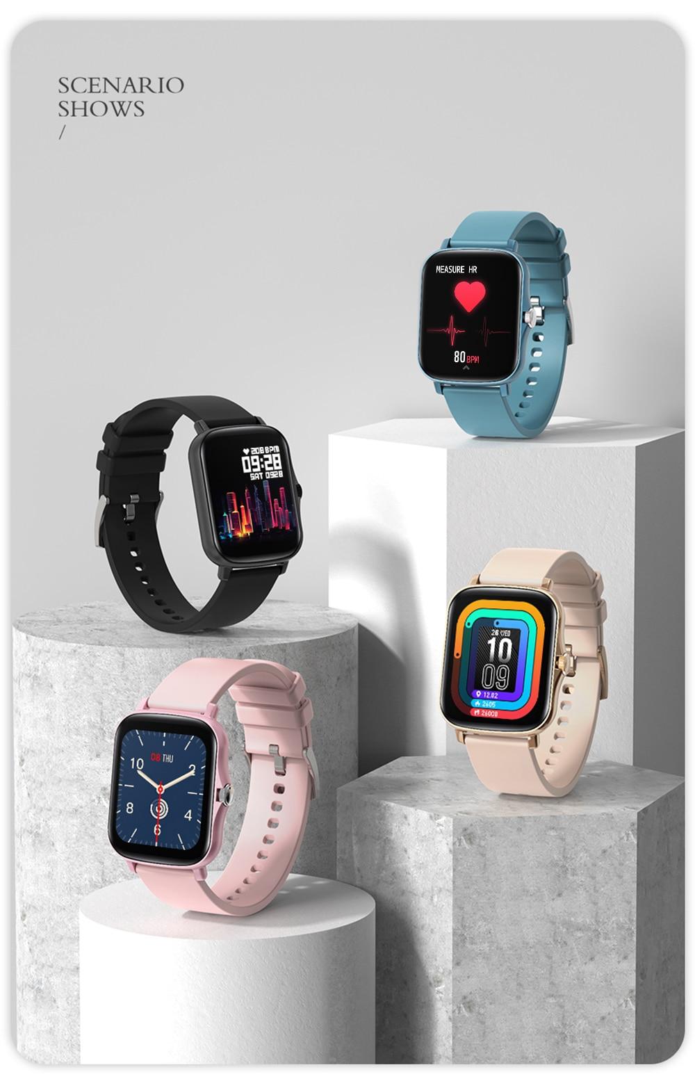 H6c4d05e08650498a95da2764f193066aj COLMI P8 Plus 1.69 inch 2021 Smart Watch Men Full Touch Fitness Tracker IP67 waterproof Women GTS 2 Smartwatch for Xiaomi phone