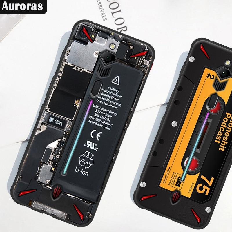 Auroras чехол для телефона ZTE Nubia Red Magic 3S защитный мягкий чехол Ретро камера геймпад шаблон чехол для RedMagic 3S Чехол