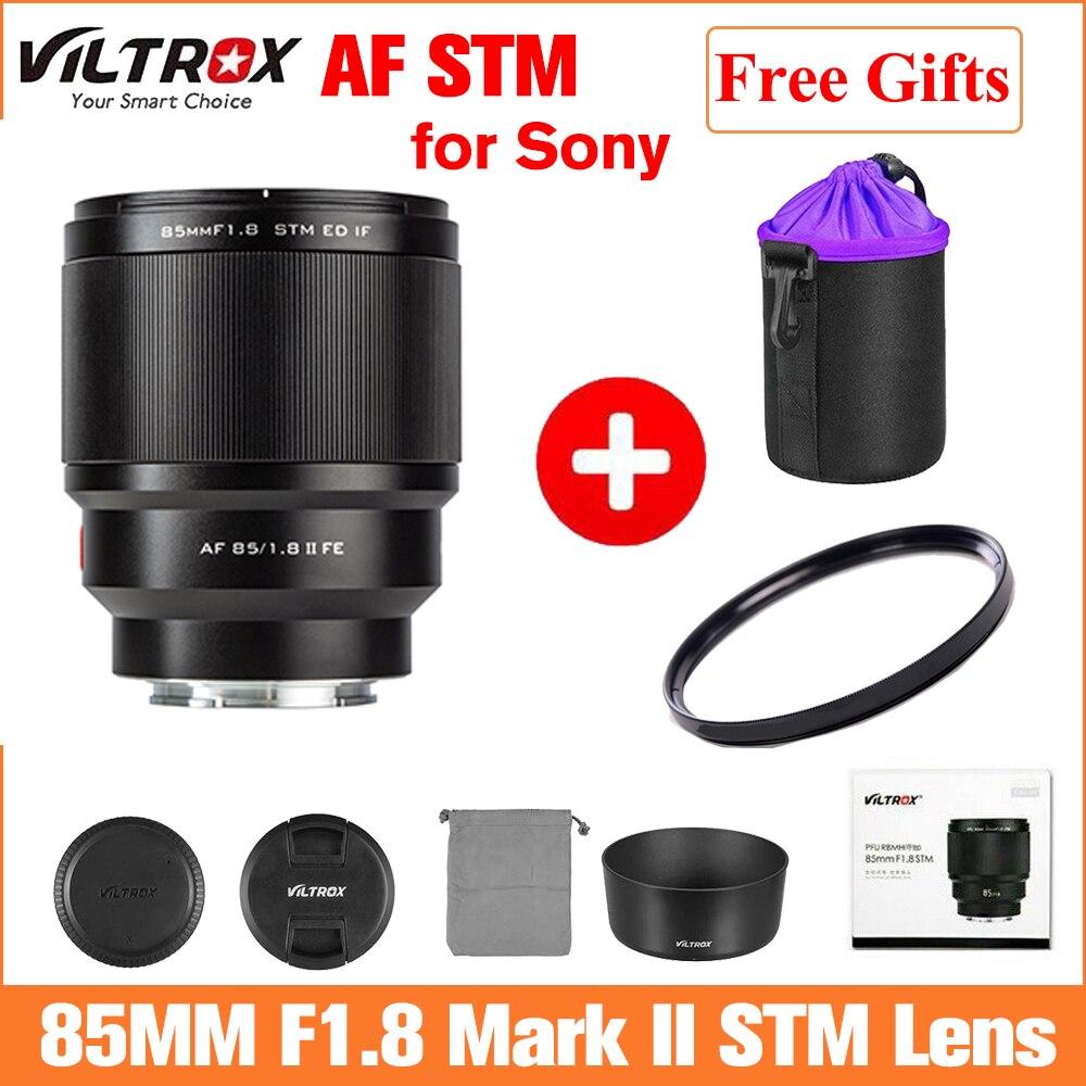 VILTROX-عدسة تركيز تلقائي 85 مللي متر F1.8 II STM, لكاميرا Sony E mount ، a7RIV a7IV a9II a7SII A6600 A7R3 A7II a6400 a6300