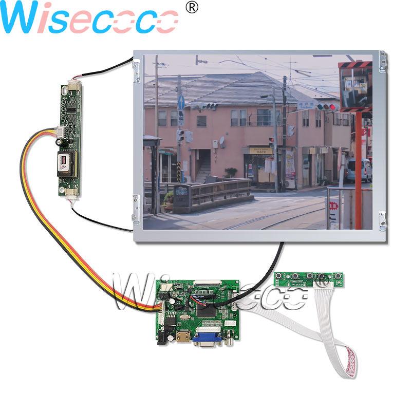 "Wisecoco 12,1 ""800*600 lámpara de temperatura amplia repacable 180 ° reverso 6/8 bit mate LCD Displat + HDMI 50PIN TTL driver board"