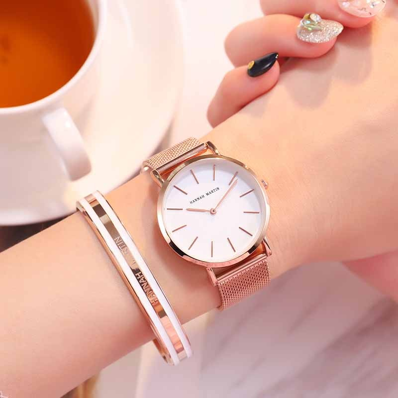 Hannah Martin Fashion Luxury Brand Quartz Women Watch Wristwatch Women Life Waterproof Ladies Watches Clock Women Reloj Mujer enlarge