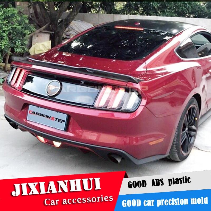 Becquet arrière de voiture en plastique   Pour Mustang Spoiler 2015-2018 Ford Mustang Spoiler jpk ABS matière plastique, voiture aile arrière