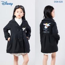 Disney Dumbo Cartoon Printed Children's Outerwear Kids Designer Clothes Girls Coat Jacket Toddler Ja