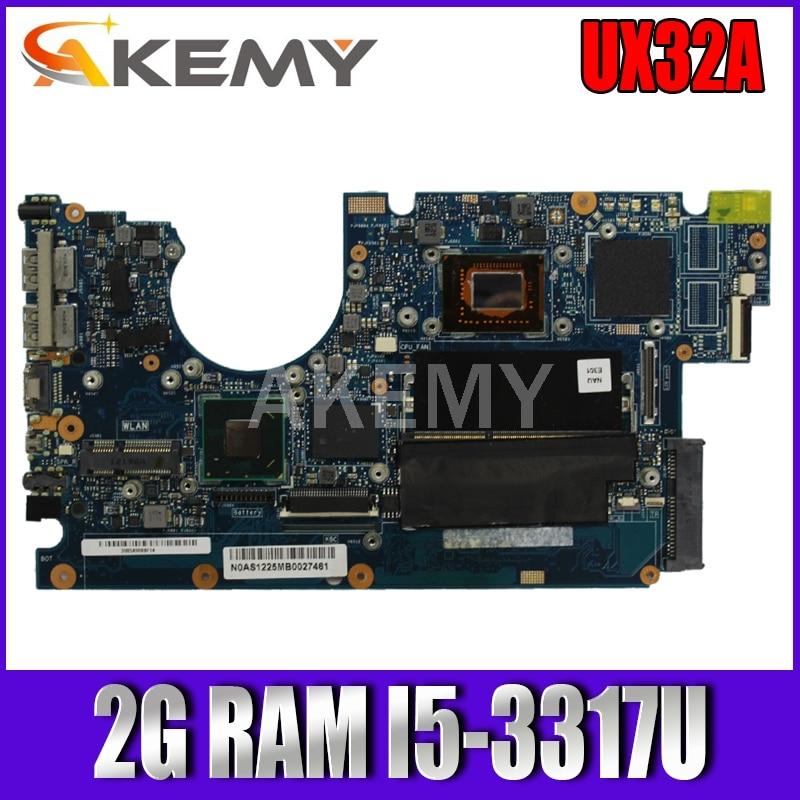 SAMXINNO لشركة آسوس UX32A Laotop اللوحة الرئيسية UX32VD UX32V UX32A 90R-NYOMB1500Y اللوحة الأم مع 2G RAM I5-3317U
