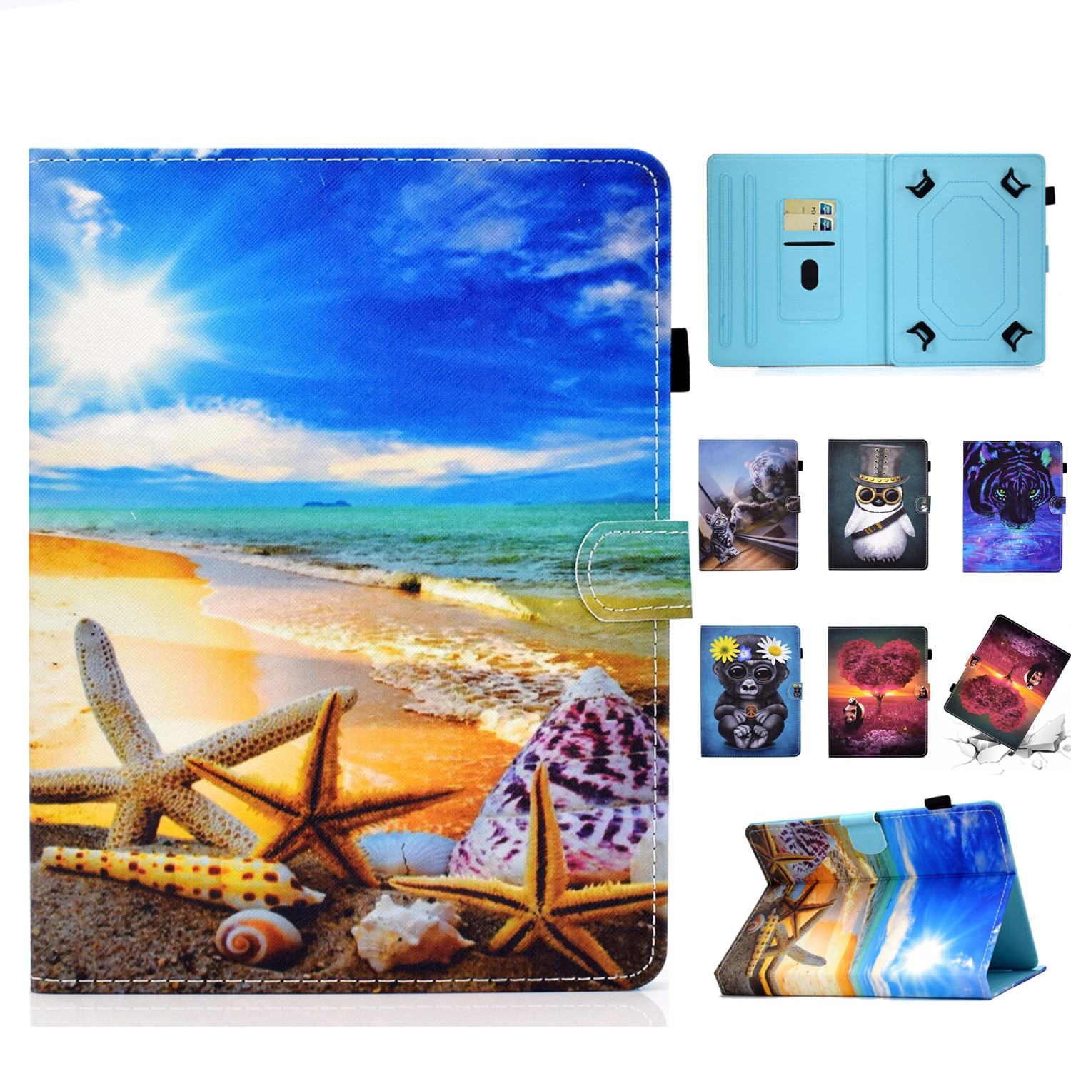 PU Leather Universal 6 Inch Print Case for Kindle Kobo Glo Aura Touch Sony Prs ONYX Boox C67ml Kepler PocketBook 6.0'' Ebook