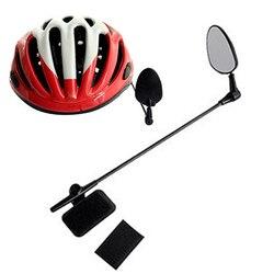 Bicicleta ciclismo retrovisor capacete de segurança da motocicleta ajustável espelho retrovisor adequado para mountain road bikes