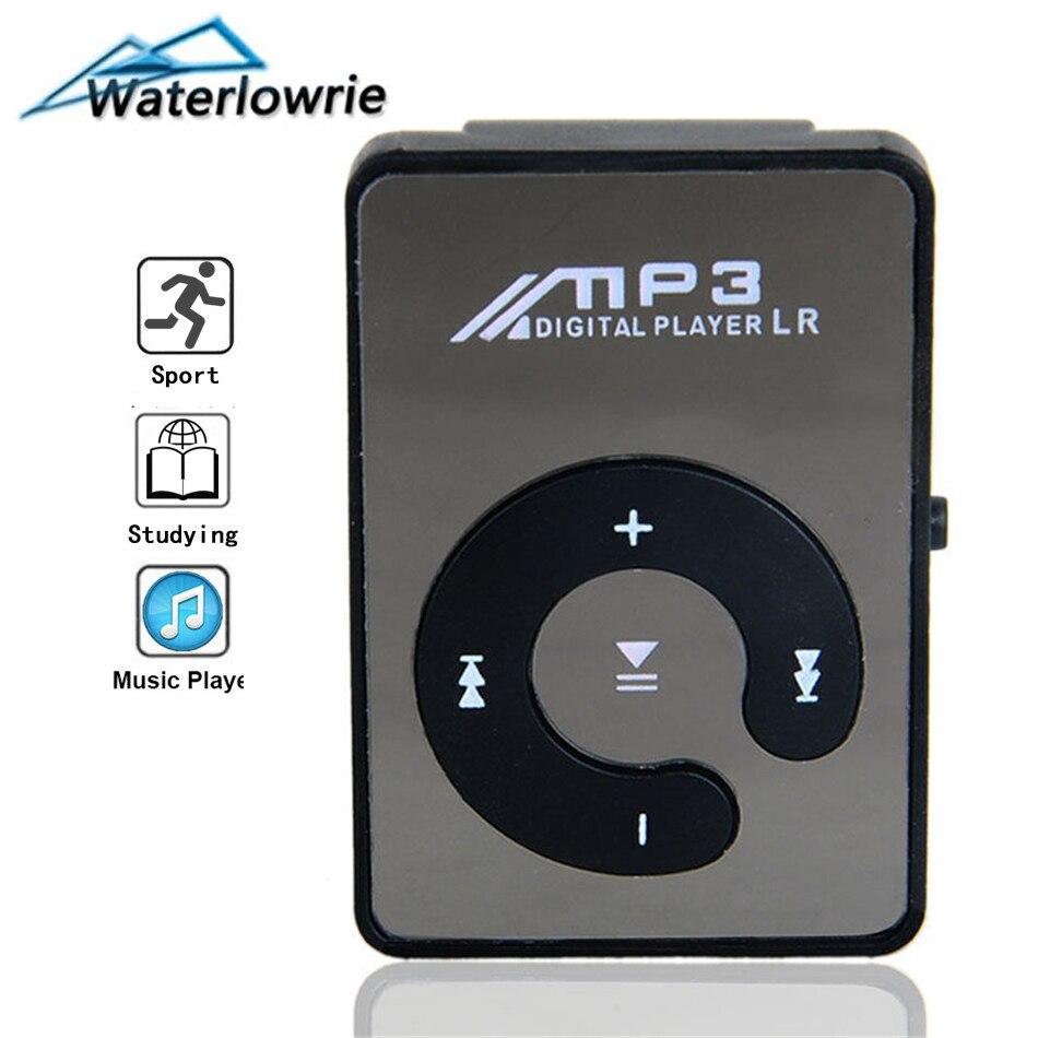 Waterlowrie плеер для бега, мини аудио плеер клип mp 3 player музыка мп 3 плейер мп3 аудиоплеер Поддержка 8G Micro SD карты памяти