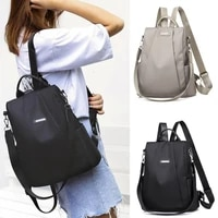 women anti theft backpack waterproof fabric large female shoulder bag large capacity simple style casual mochila travel