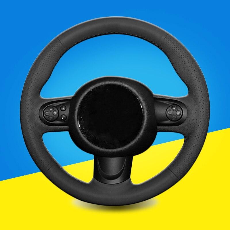 Auto trança na cobertura do volante para mini coupe diy costura à mão volante do carro trança cobre acessórios interiores