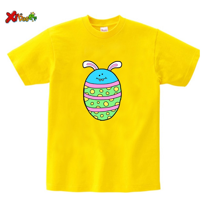 Easter eggs T-shirt funny Cartoon girls T shirt Kids Cute T-Shirts Girls Summer Tops Funny Tees Kids Casual Clothes for Baby Boy