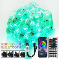 12v rgb led strip lights bluetooth wifi luces led dc 5050 smd2835 flexible waterproof tape diode remote control light for room