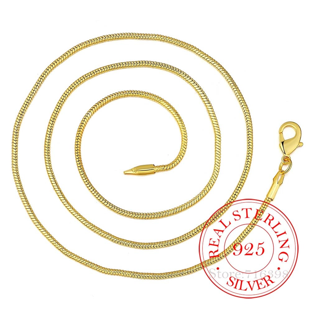 Женское-Ожерелье-из-стерлингового-серебра-925-пробы-Золотое-модное-ювелирное-изделие-цепочка-под-змеиную-кожу-2-мм-ожерелье-16-18-20-22-24-26-28