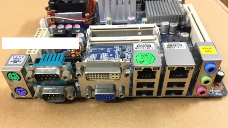 100% OK AIMB-256G2, marca Original mini itx IPC, placa base integrada, AIMB-256, placa base Industrial mini-itx con memoria 4 * COM CPU