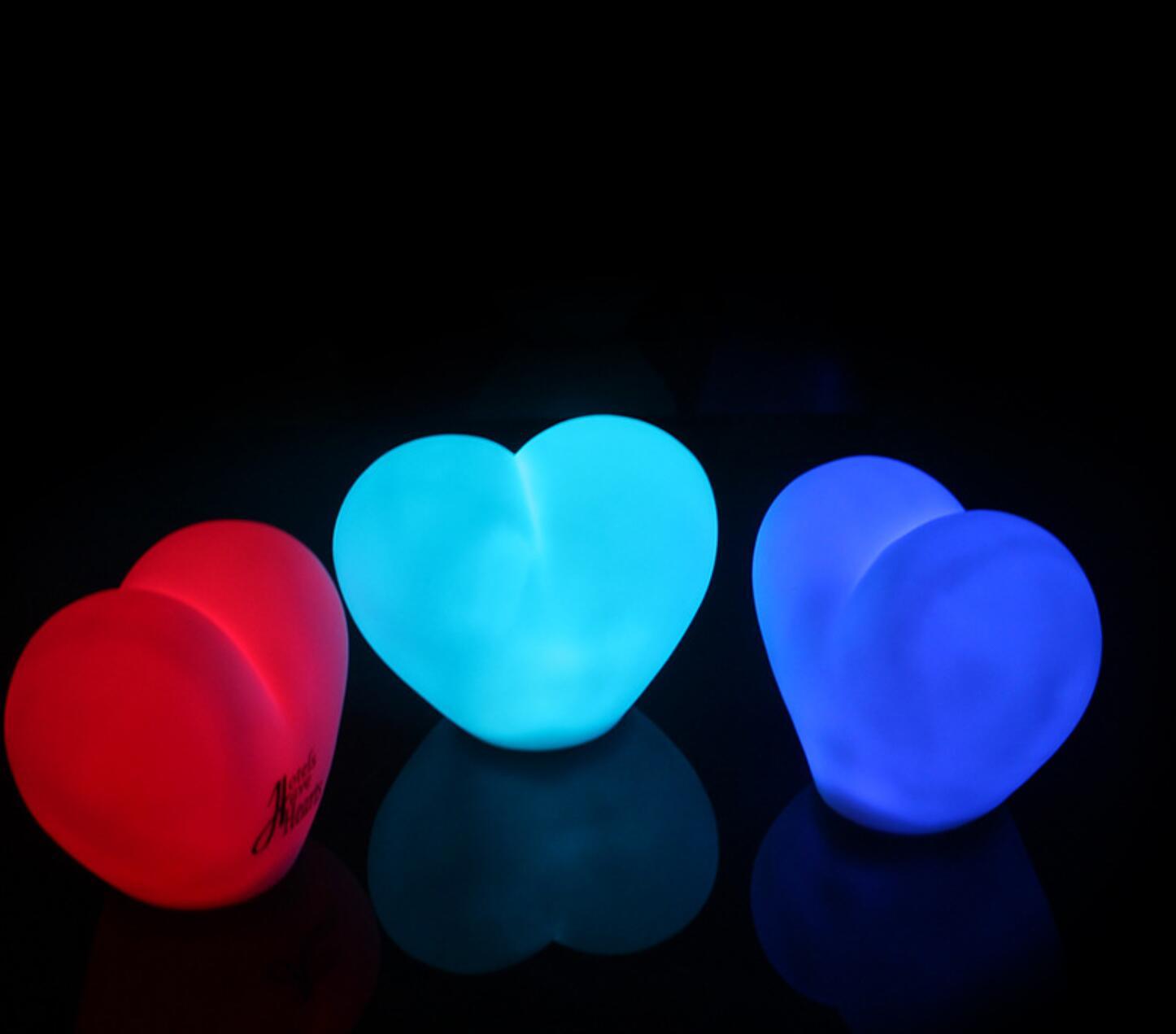 أحمر شكل قلب القلب غرفة نوم فتاة led ضوء الليل لطيف الديكور ضوء الإبداعية الجديدة