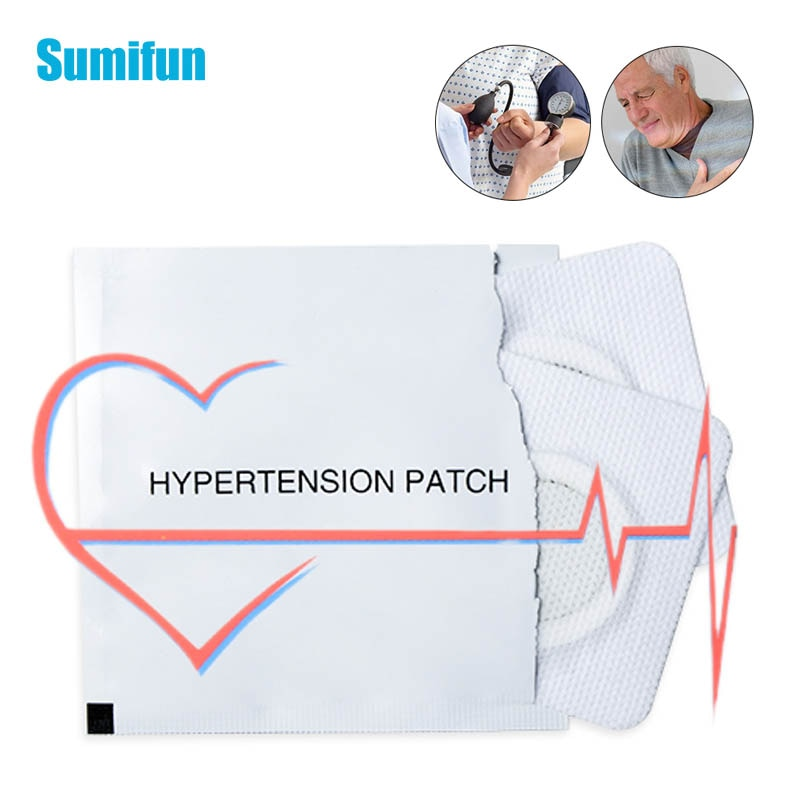 2Pcs/Bag Hypertension Patch For Reduce Control High Blood Pressure Plaster Chinese Herbal Lower Blood Pressure