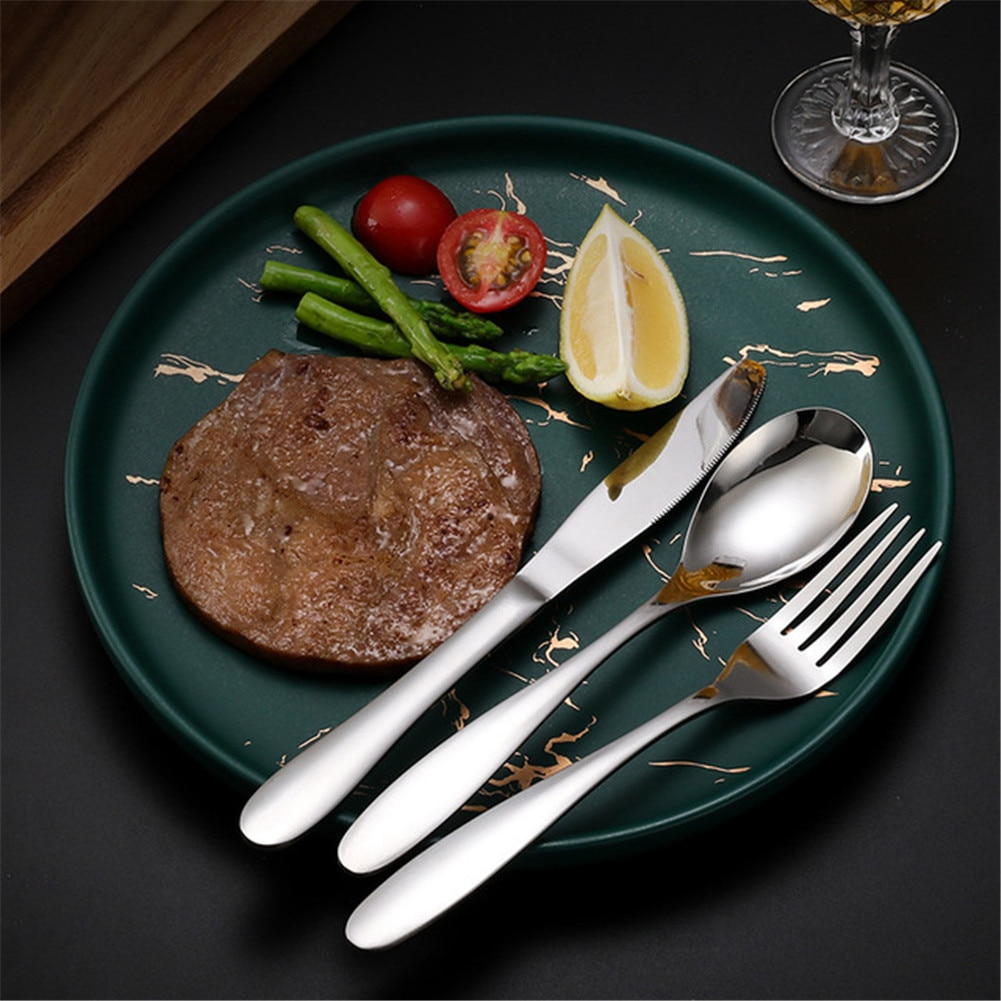 Stainless Steel Knife, Fork and Spoon Steak Knife and Fork 304 Tableware for Kitchen or gift
