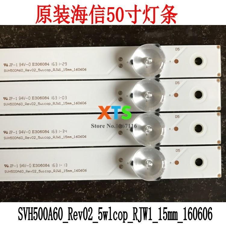 110 unids/lote de retroiluminación LED para LC-50N5000U 50H4D 50h5gb 50h4c 50h5c SVH500A60 HD500DF-B53 RSAG7.820.6660/ROH 5LED 492mm 3v