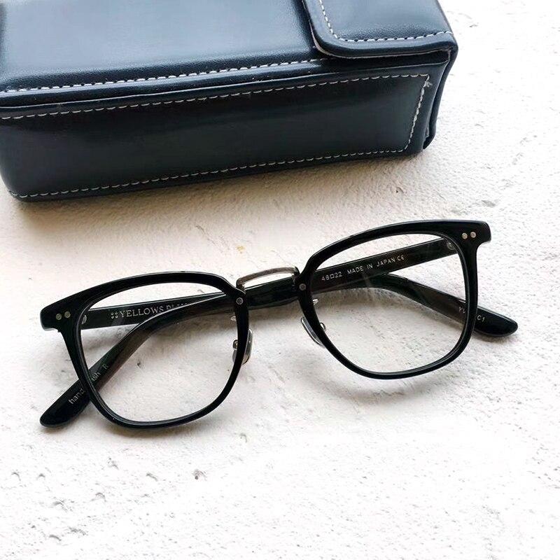 2020 اليابان ماركة خمر جودة نظارات خلات الأسيتات إطار نظارات النساء الرجال الأصلي صندوق علبة وصفة طبية عدسة شحن مجاني