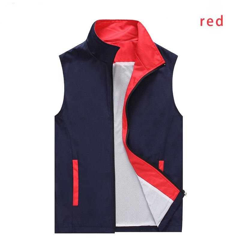 Print Your Own Logo Vest Casual Waistcoat Solid Color Advertisement Vest Printing Volunteer Vests Activities Tops  - buy with discount