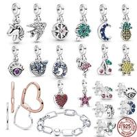 new love me flamingo pendant starfish earrings charm fit original 925 sterling silver pandora me bracelet diy jewelry for women