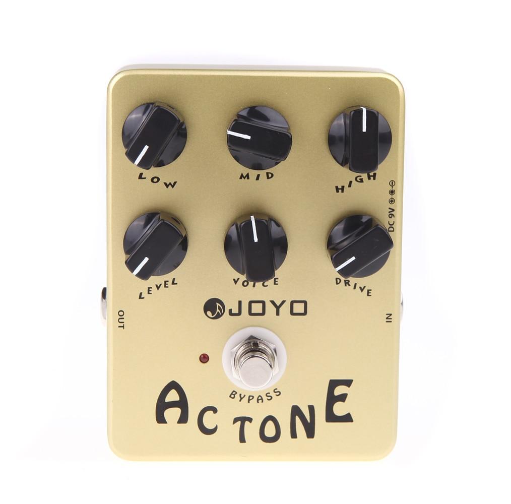 Joyo JF-13 ac tom guitarra elétrica pedal de efeitos clássico britânico rock som vox tom amp simulação efeito guitarra stompbox