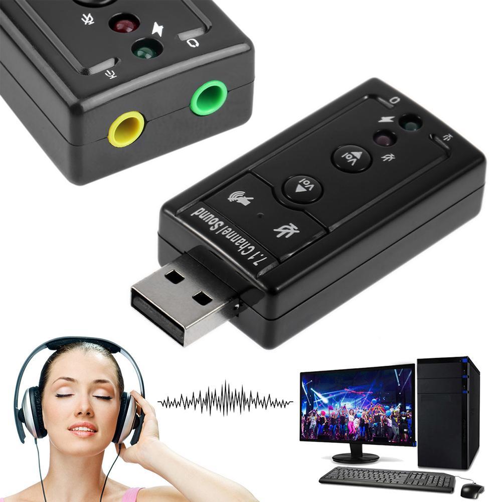 Мини USB 2,0 3D Virtuelle 12 Мбит/с Externe 7,1 канал аудио адаптер de Carte сын аудио адаптер Портативный USB 2,0